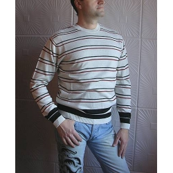 Джемпер EMR серый с полосками